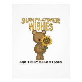 Sunflower Wishes Teddy Bear Kisses Full Color Flyer