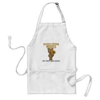 Sunflower Wishes Teddy Bear Kisses Standard Apron