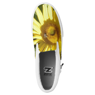 Sunflower with Bee Slip On Shoes