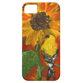 Sunflower with Goldfinch iPhone 5 Cases
