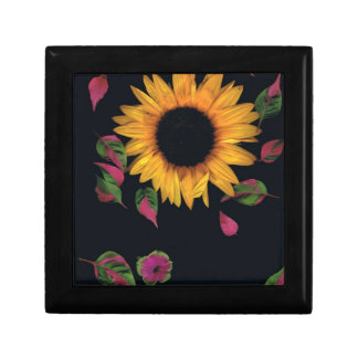 Sunflower with leaves gift box