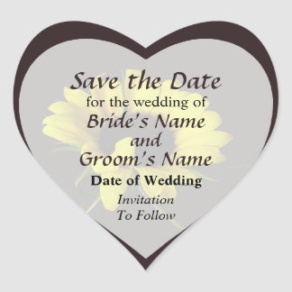 Sunflower With Naturally Curly Hair Save the Date Stickers