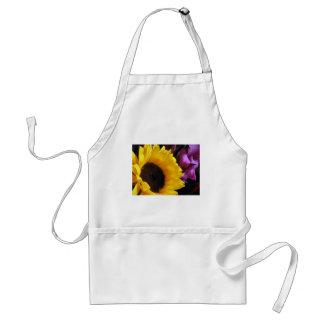 Sunflower with Purple Iris Standard Apron