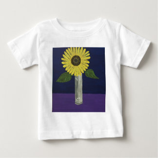 Sunflower with square vase still life baby T-Shirt