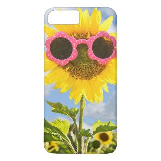 sunflower with sunglasses iPhone 8 plus/7 plus case