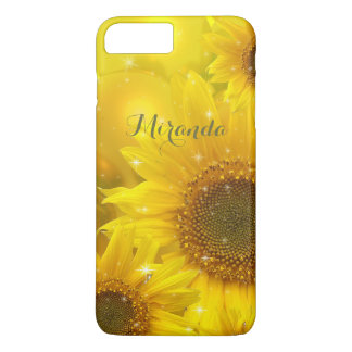 Sunflower Yellow Flower Floral Personalized iPhone 8 Plus/7 Plus Case