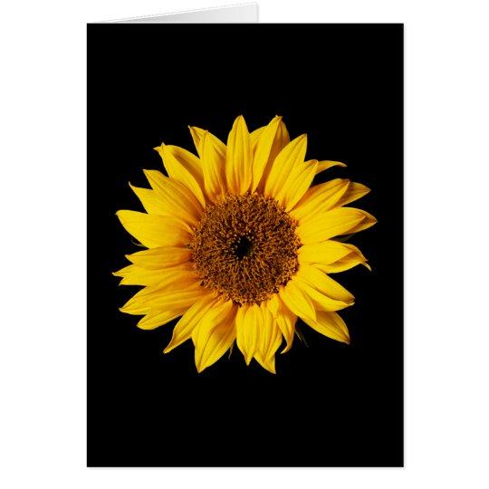 Sunflower Yellow on Black - Customised Sun Flowers Card