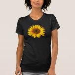 Sunflower Yellow on Black - Customised Sun Flowers Tee Shirt
