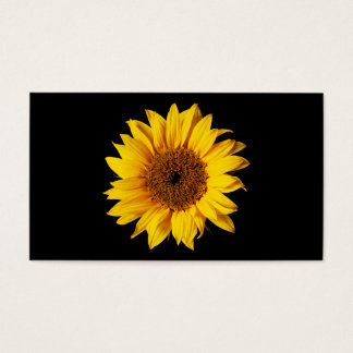 Sunflower Yellow on Black - Customized Sun Flowers Business Card