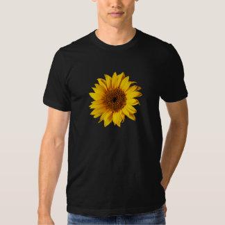 Sunflower Yellow on Black - Customized Sun Flowers Tee Shirt