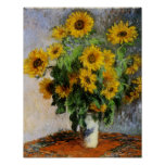Sunflowers, 1881 by Monet. Poster