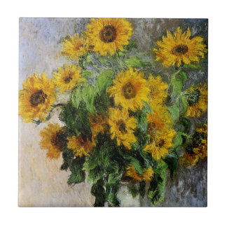 Sunflowers, 1881 by Monet. Tile