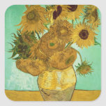 Sunflowers, 1888 2 square stickers