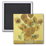 Sunflowers, 1888 square magnet