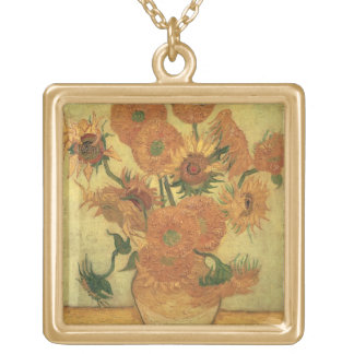 Sunflowers, 1889 (oil on canvas) jewelry