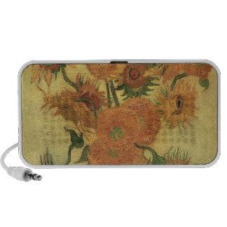 Sunflowers 1889 oil on canvas notebook speaker