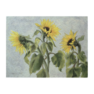 Sunflowers 1996 wood wall art