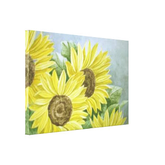 Sunflowers 3 gallery wrapped canvas