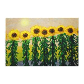 "Sunflowers-60"" x 40"" wall Canvas Canvas Print"