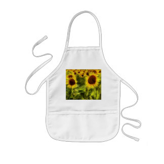 Sunflowers Abstract Van Gogh Kids Apron