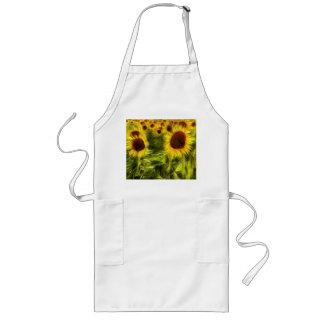 Sunflowers Abstract Van Gogh Long Apron