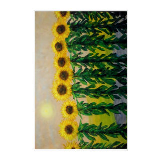 Sunflowers Acrylic Wall Art