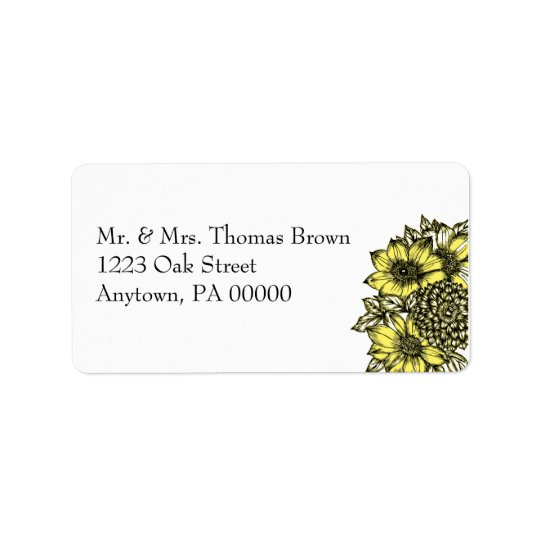 Sunflowers Address Label