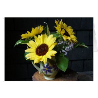 Sunflowers and Asters Card