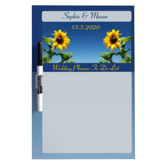Sunflowers and Blue Sky Wedding Planner Board