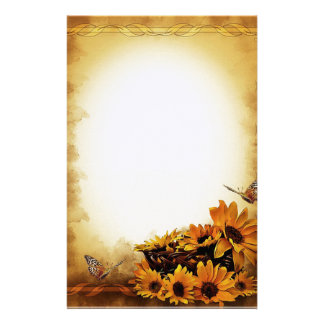 Sunflowers and Butterflies Stationery