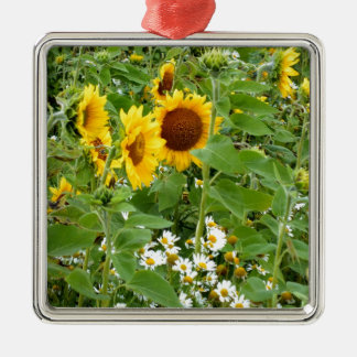 Sunflowers and Daisies Christmas Ornament