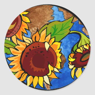 Sunflowers and Earth Day Sticker
