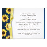 Sunflowers and Ribbon Country Wedding 13 Cm X 18 Cm Invitation Card