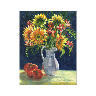 """""""Sunflowers And Tomatoes"""" Canvas Print"""