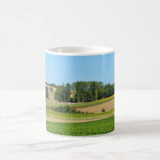 Sunflowers and vines basic white mug