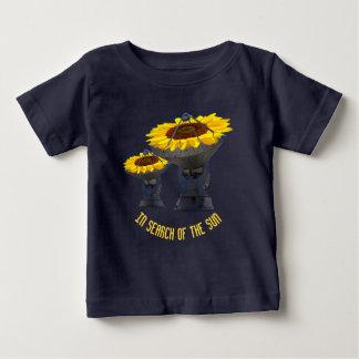 Sunflowers As Radio Telescope Antenna Follow Sun Baby T-Shirt