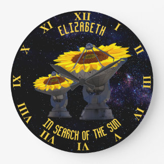 Sunflowers As Radio Telescope Antenna Follow Sun Large Clock