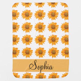 Sunflowers Baby Blanket