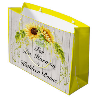 Sunflowers - Back Customization Large Gift Bag