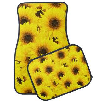 Sunflowers background car mat