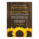 Sunflowers Barn Wood Wedding Invitations