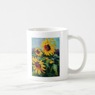Sunflowers Basic White Mug