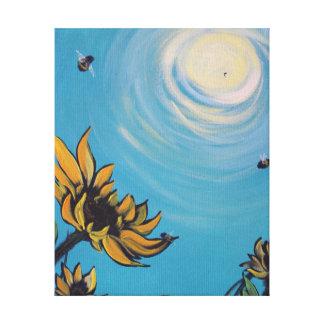 Sunflowers & Bees Print