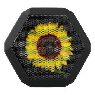 Sunflowers Black Bluetooth Speaker