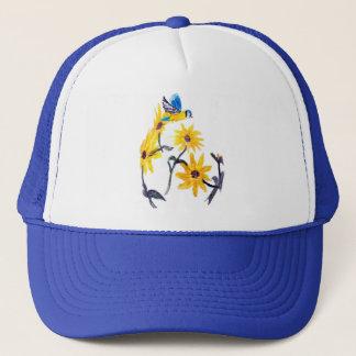 Sunflowers Bluetit Floral Art Trucker Hat