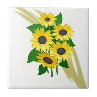 Sunflowers Bouquet Tile