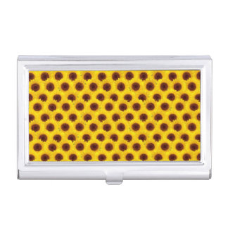 Sunflowers Bright Yellow & Brown Flowers Business Card Cases