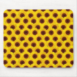 Sunflowers Bright Yellow & Brown Flowers Mouse Pad