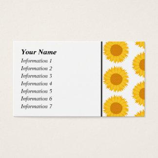 Sunflowers. Business Card