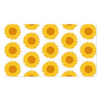 Sunflowers. Business Card Template